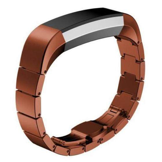 Luxury Genuine Stainless Steel Watch Band Wrist Strap For Fitbit Alta Tracker Coffee Malaysia