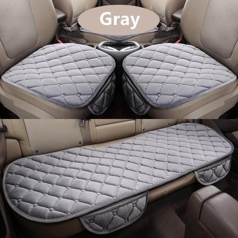 Malaysia Ready Stock 3Pcs/Set Universal Car Front Rear Seat Cover Soft  Cushion Pad For Myvi Old Lagi Best Icon 2018 Persona New VVT 2016 Saga VVT  2016
