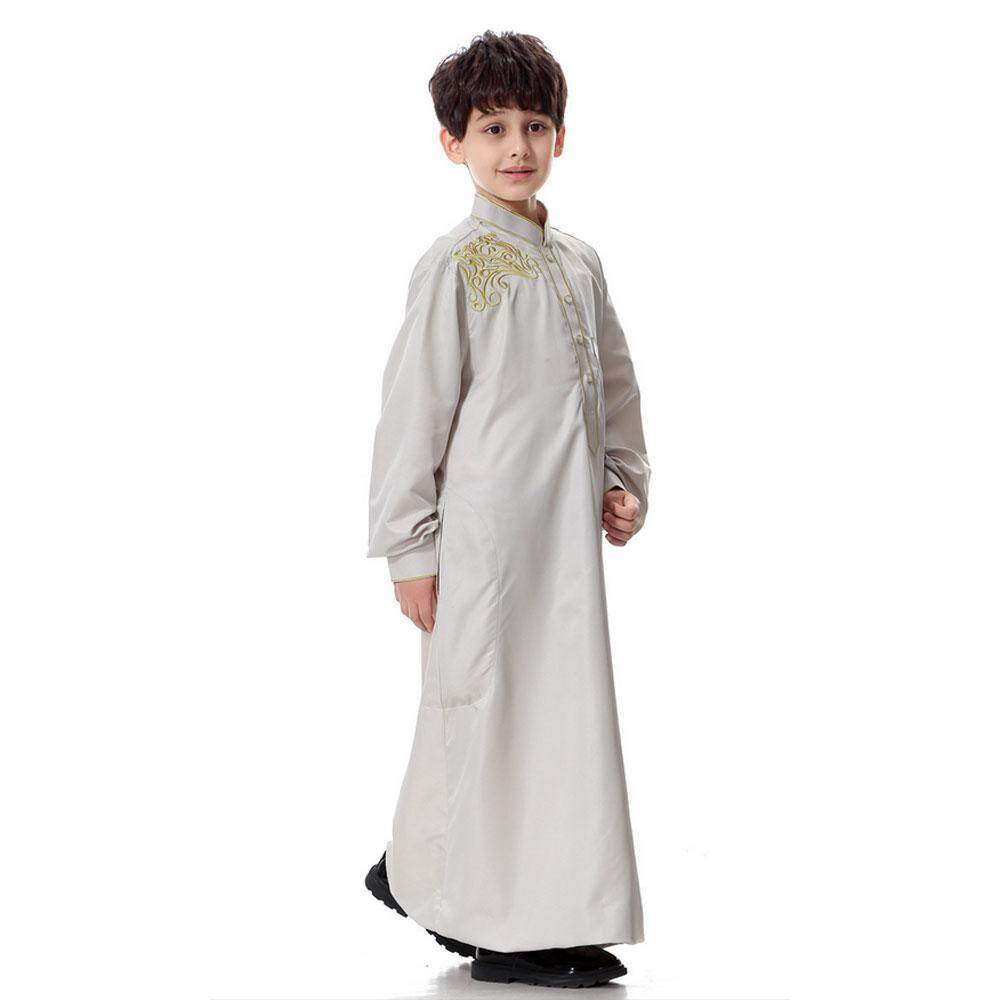 Goodgreat Long Sleeve Mock Neck Embroidered Middle East Arab Muslim Children S Robe By Good&great.