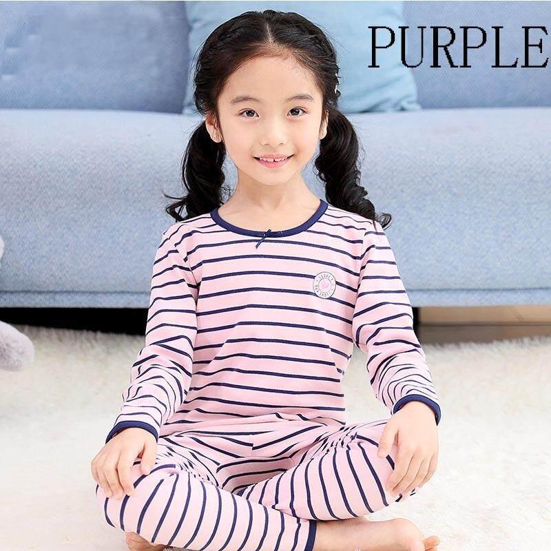 Children Girls Pajamas Set Autumn Winter Long Sleeve Underwear Set Kids Big  Girl Homewear 100% f1de8a3ce