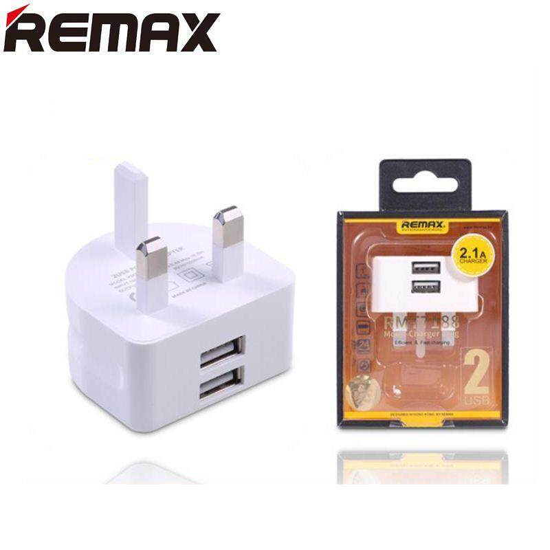 Remax RMT7188 Moon Series Charger Plug with Dual USB Port 2.1A Output (White)