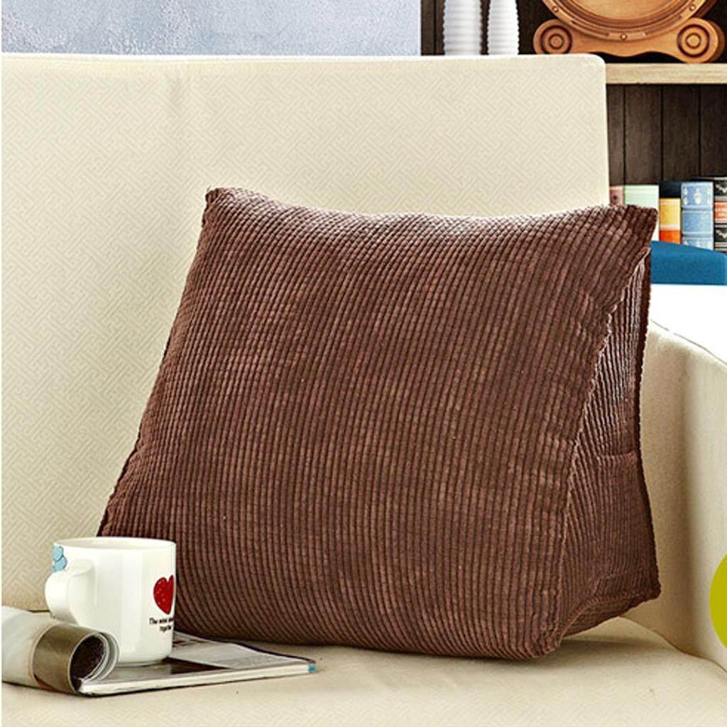 MagiDeal Triangular Waist Cushion Lumber Pillow Back Support Pad Backrest S - Coffee