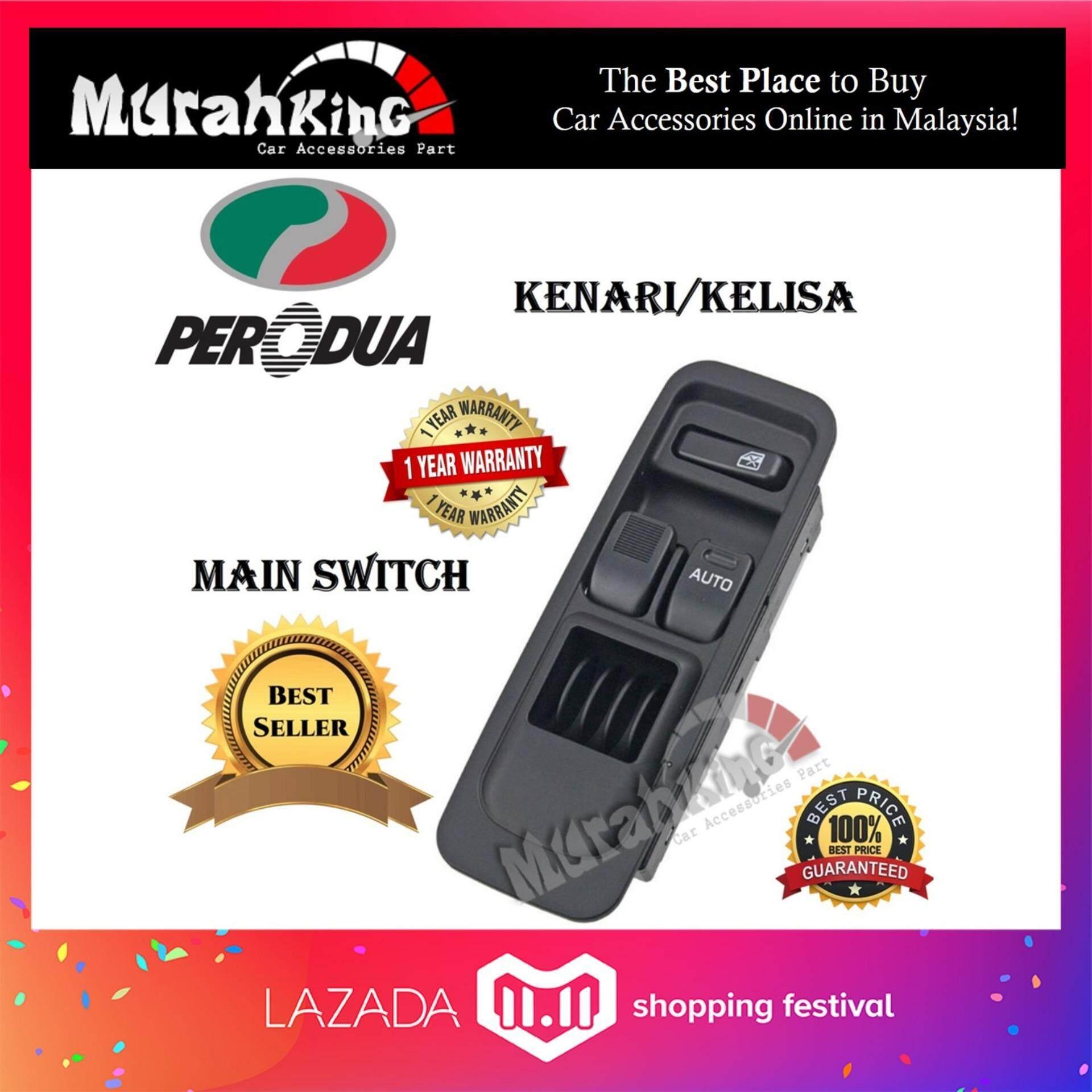 OEM Power Window Switch for Perodua Kenari / Kelisa (Main Switch) - 2 Button