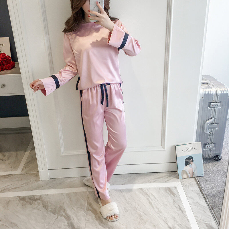 b420541a0 Product details of Women Winter Sleepwear Europe Style Satin Pajamas for Autumn  Pajamas Set High Quality Long Sleeve Top+Long Pants Pijama
