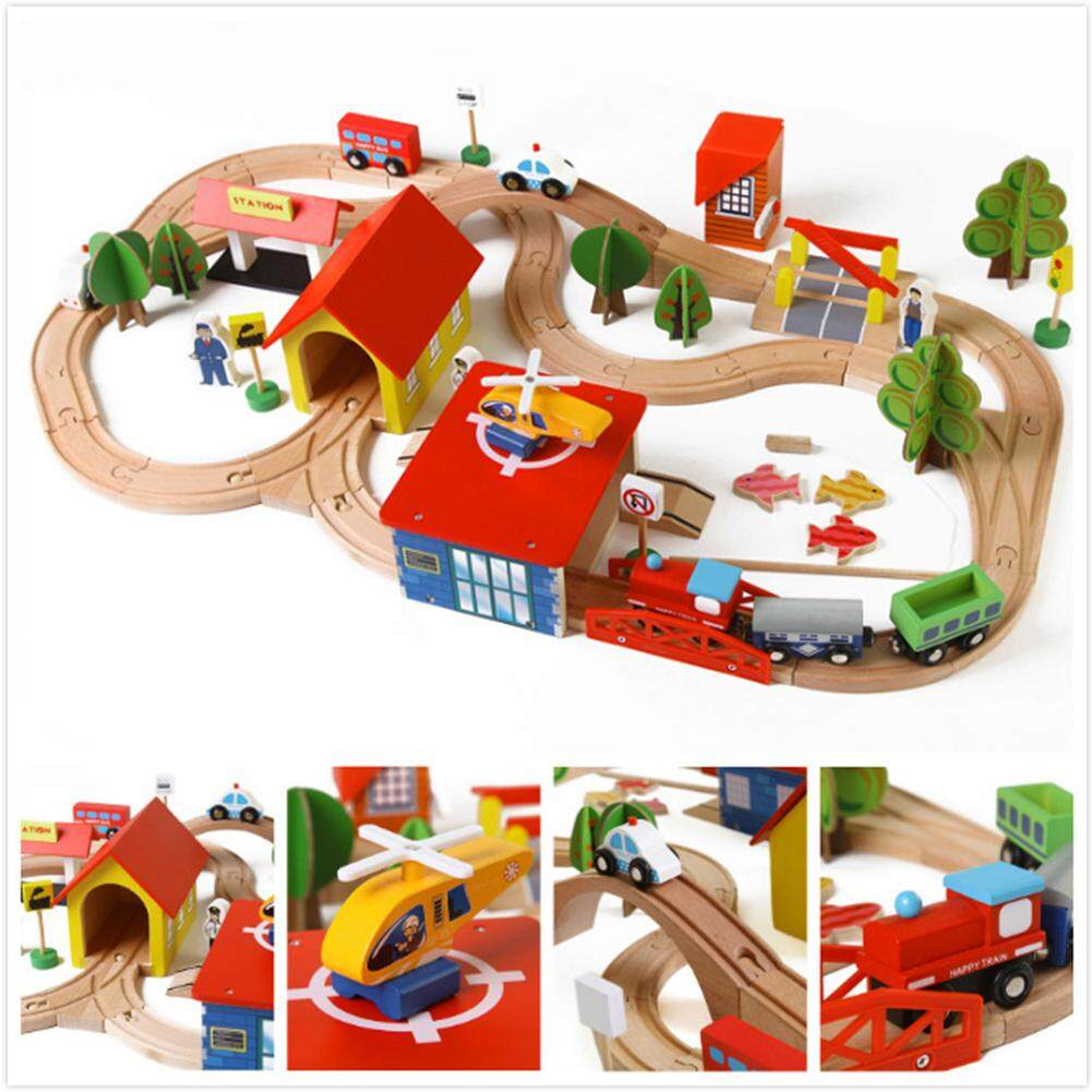 Wooden Diy Railway Track Train Puzzle Building Blocks Toys For Kids As Xmas Gifts By Small Yellow Duck