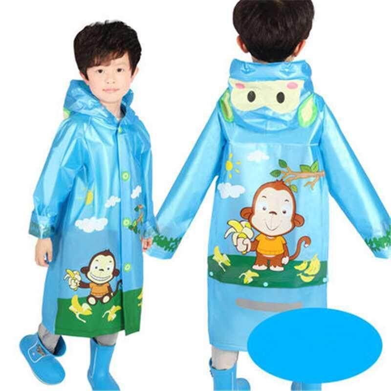 Waterproof Kids Boys Girls Cute Raincoat Kindergarten Children Cartoon Outdoor Tasteless Rain Coat Without Rainshoes A002293-2297 By Xinyuan Store.