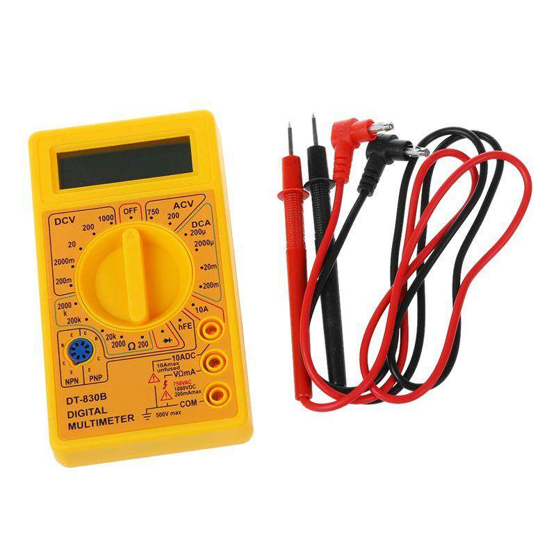 DT830B LCD Digital Multimeter ohmmeter Ammeter Voltmeter Handheld Tester (Yellow)