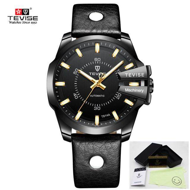 5473b718227 Tevise Men Mechanical Watch Automatic Date Fashion Luxury Waterproof Gold  Clock Male Sport Business Clock Masculino