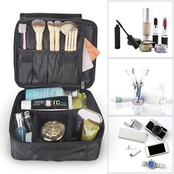 Makeup Bag , Yedda Portable Travel Makeup Case Organizer Portable Artist Storage Bag (black ) By Barun.