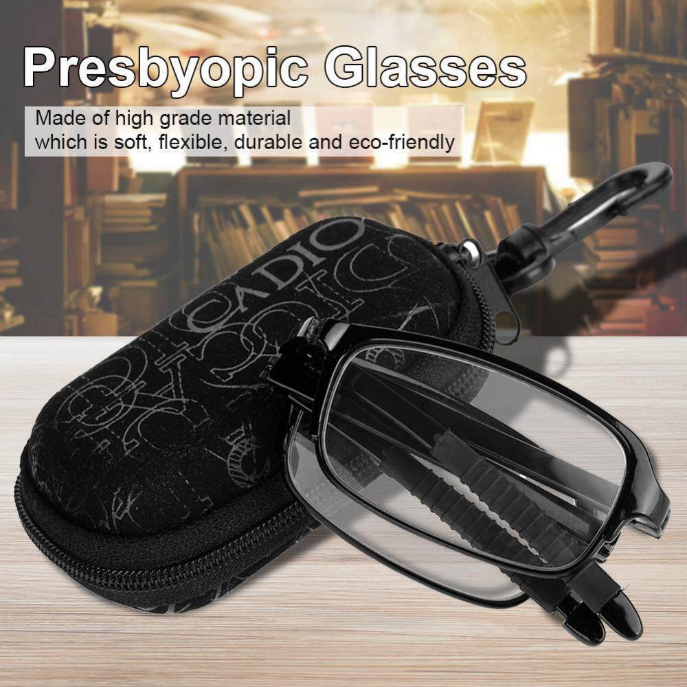 a1106e4d063 Unisex Portable Lightweight Foldable Ultra Thin Black Reading Presbyopic  Glasses (2.0)