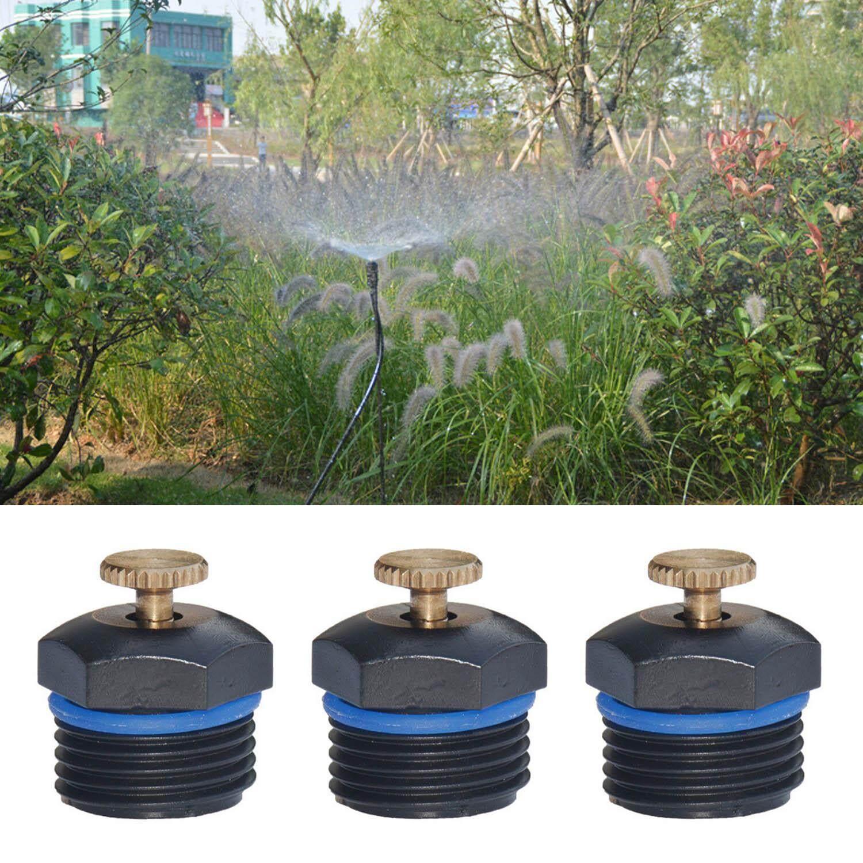 20 PCS 1/2inch DN15 Adjustable Garden Watering System Sprinkler Head Micro Flow Dripper Drip Water Spray Head Irrigation Tools (Black)