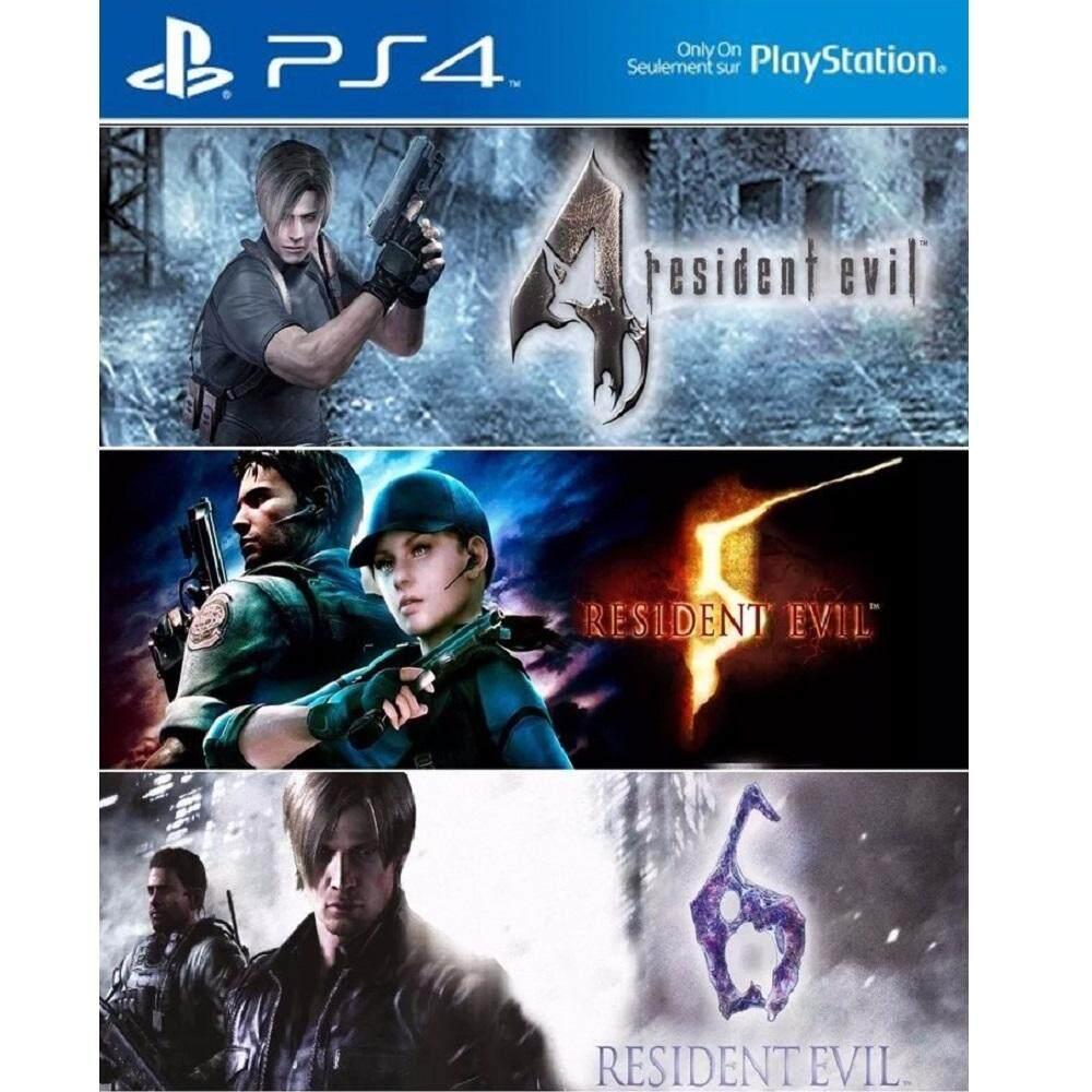 Ps4 Resident Evil Triple Pack Re 4 5 6 Basic Digital