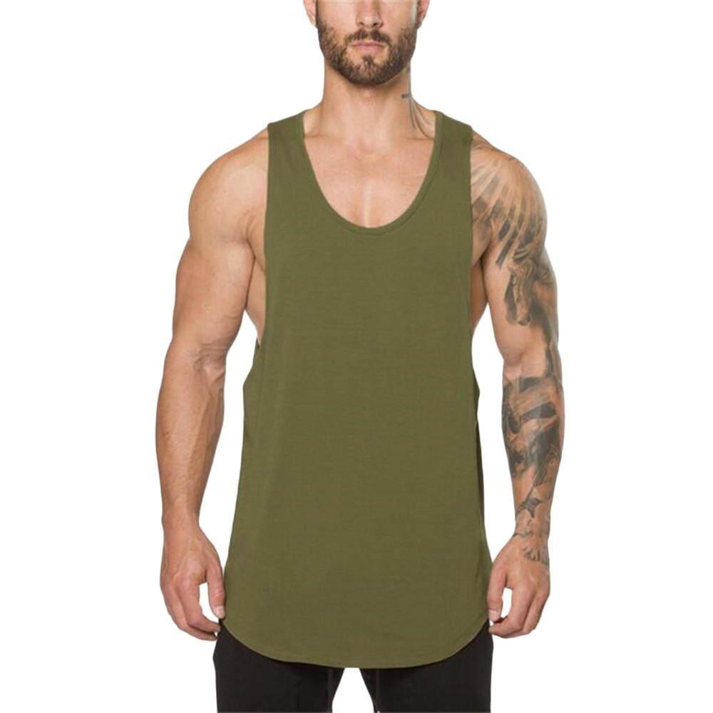 Viktoriastore Men's Gyms Bodybuilding Fitness Muscle Sleeveless Singlet T-shirt Top Vest Tank