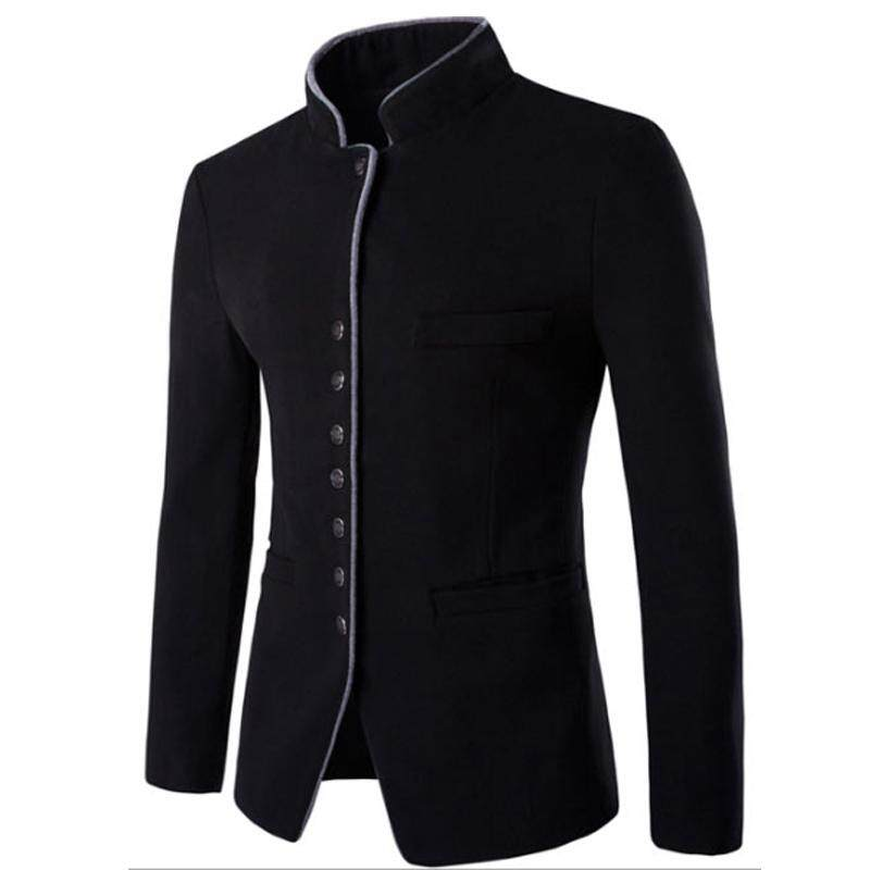 United Plus Size M 8xl Print Pattern New Style Jacket Men Stand Collar Smart Casual Outerwear For Spring And Autumn Jackets