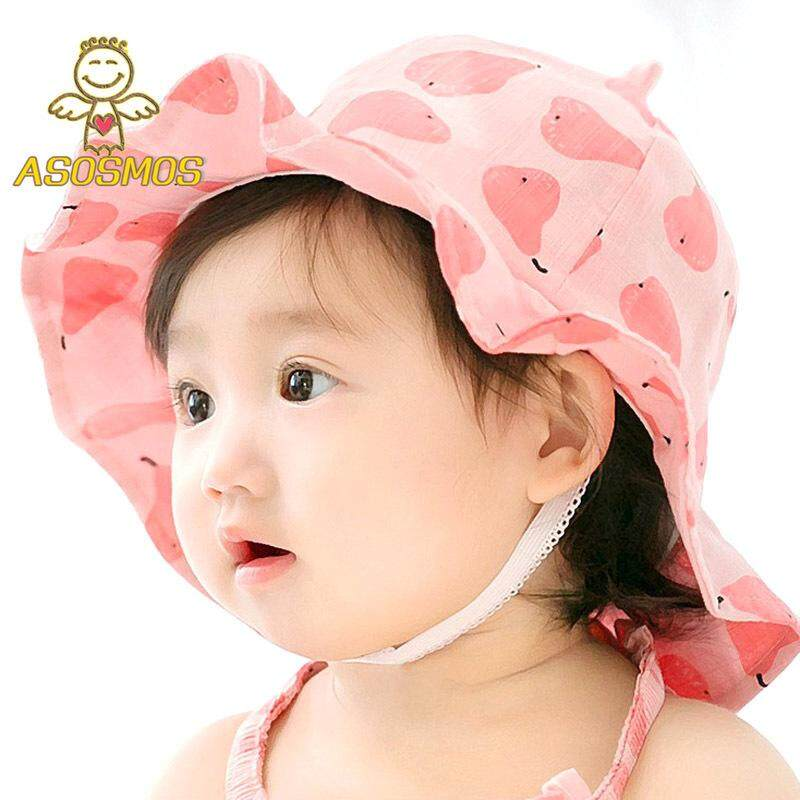 fd22d348040 ASM Fashion Summer Baby Princess Hat Fruits Printing Kids Sweet Girls Cap  Newborn Bucket Hats Photography