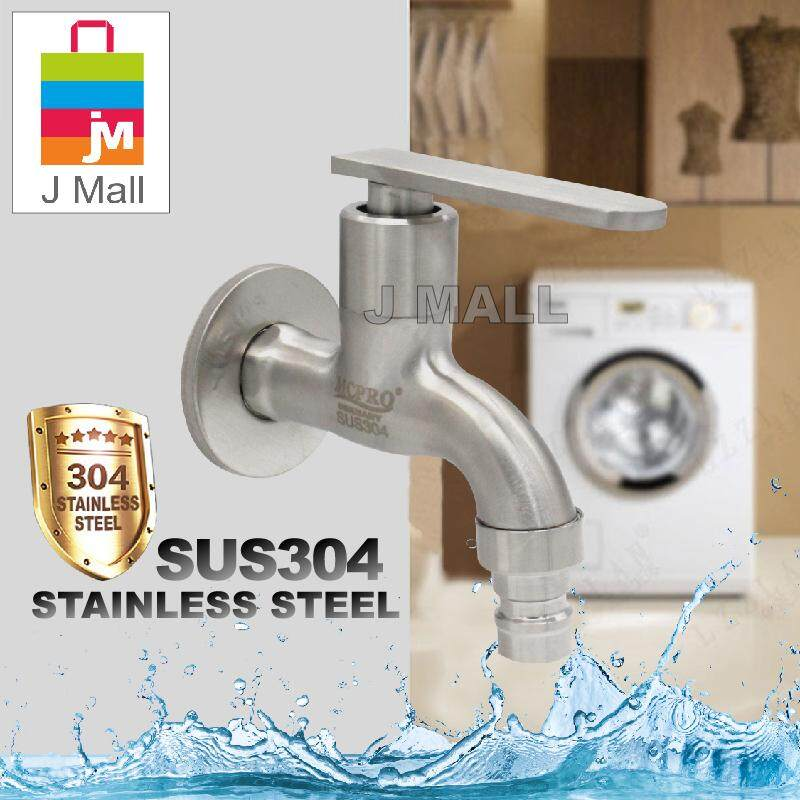 Mcpro Stainless Steel Sus304 Washing Machine Faucet Wall Bib Tap (ss13) By J Mall.