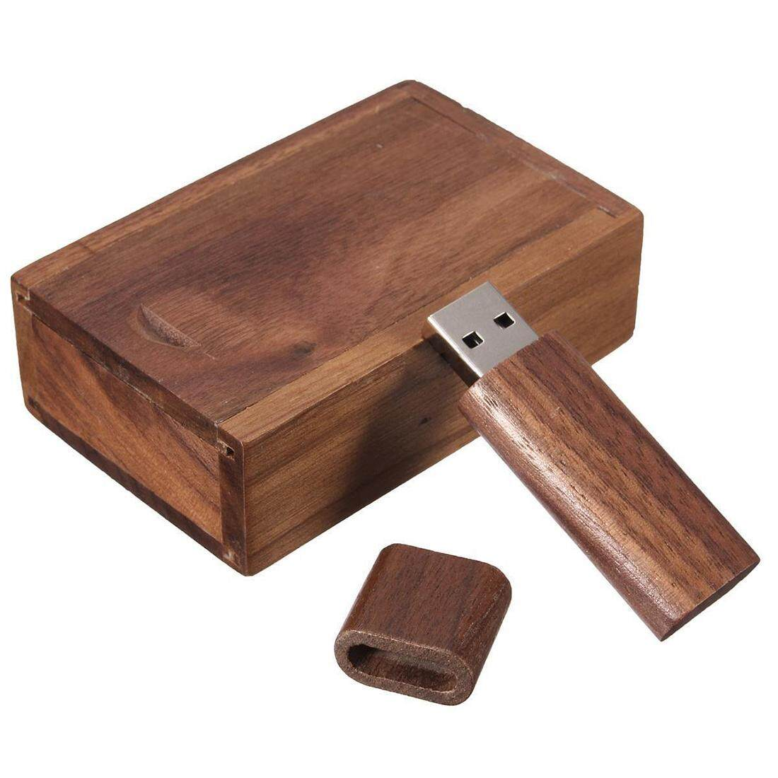 4-32G GB USB 2.0 Flash Pen Drive Storage Wooden Memory Stick U Disk with Wood Case Storage Capacity:8G Malaysia