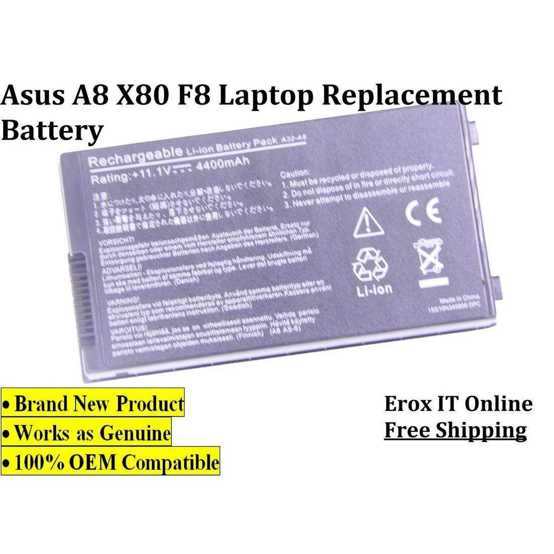 Asus A8H A8HE A8J A8JA laptop battery /Asus A32-A8 laptop battery Malaysia