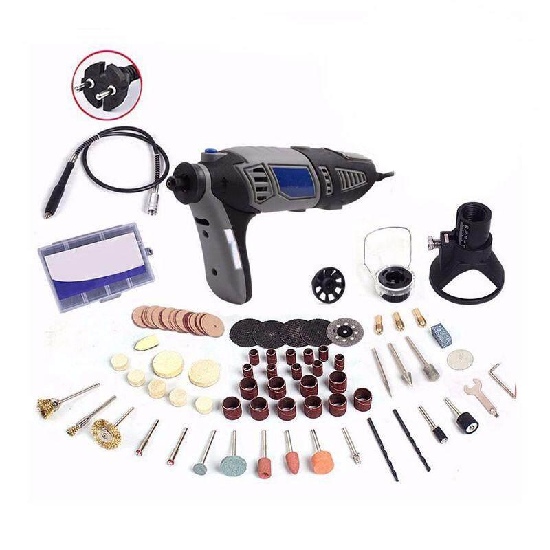 220V 180W style Electric Rotary Power Tool Mini Drill with Flexible Shaft 132pcs Accessories Set Storage Bag EU Plug