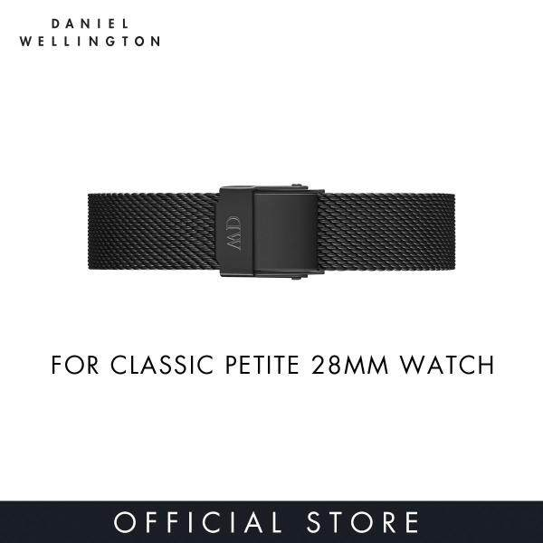 For 28mm Classifc Petite - Daniel Wellington Ashfield 12mm - Matte Black Mesh Watch Strap Band Malaysia