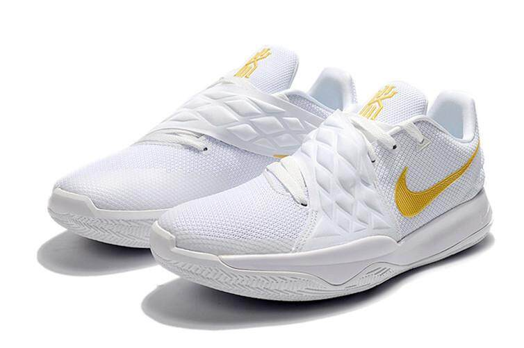 quality design d40e6 0ccd0 Nike_Authentic Official Kyrie Irving 4 Low EP White Gold Sport MEN  Basketaball Shoe