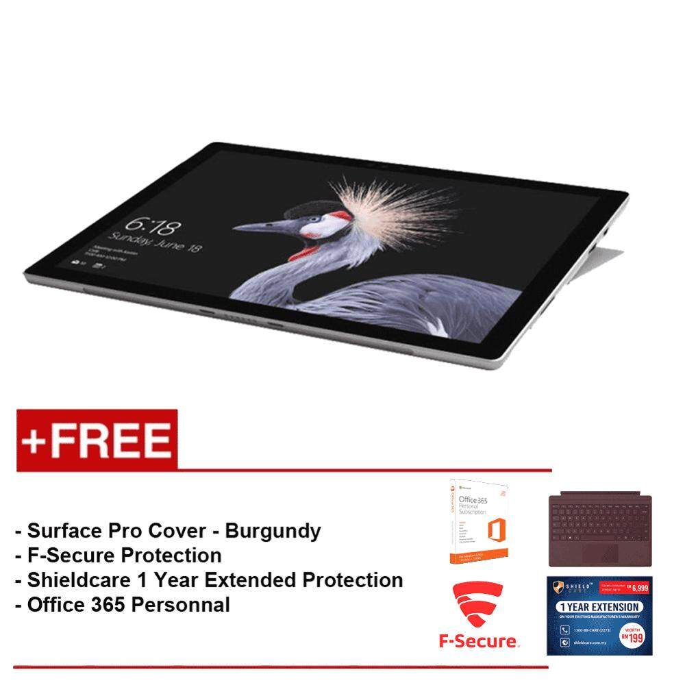 NEW Microsoft Surface Pro - Core i5 8G/256GB Free Surface Pro Type Cover (Burgundy) + Shieldcare 1 Year Extended Warranty + F-Secure EndPoint Protection + Office 365 Personal Malaysia
