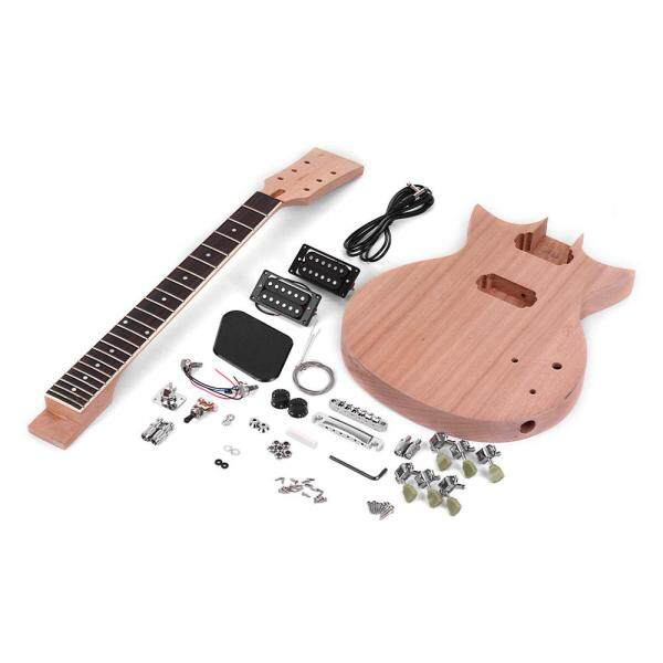Muslady Unfinished DIY Electric Guitar Kit Mahogany Body & Guitar Neck Rosewood Fingerboard Malaysia