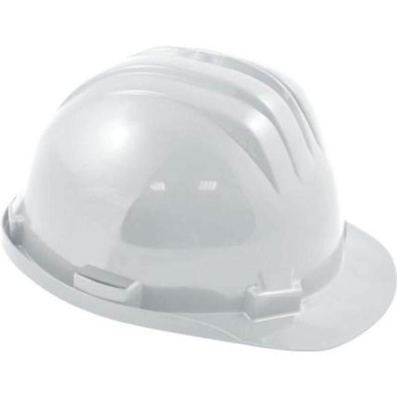 SAFETY HELMET STD + PLASTIC 6 POINT HARNESS WHITE SSF9572070K