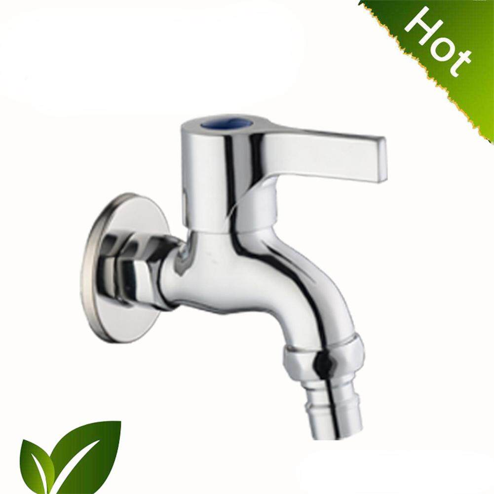 Stylish Wall-in Faucet Cold Water Tap Kitchen Bathroom Decoration Specification:copper washing machine (short)