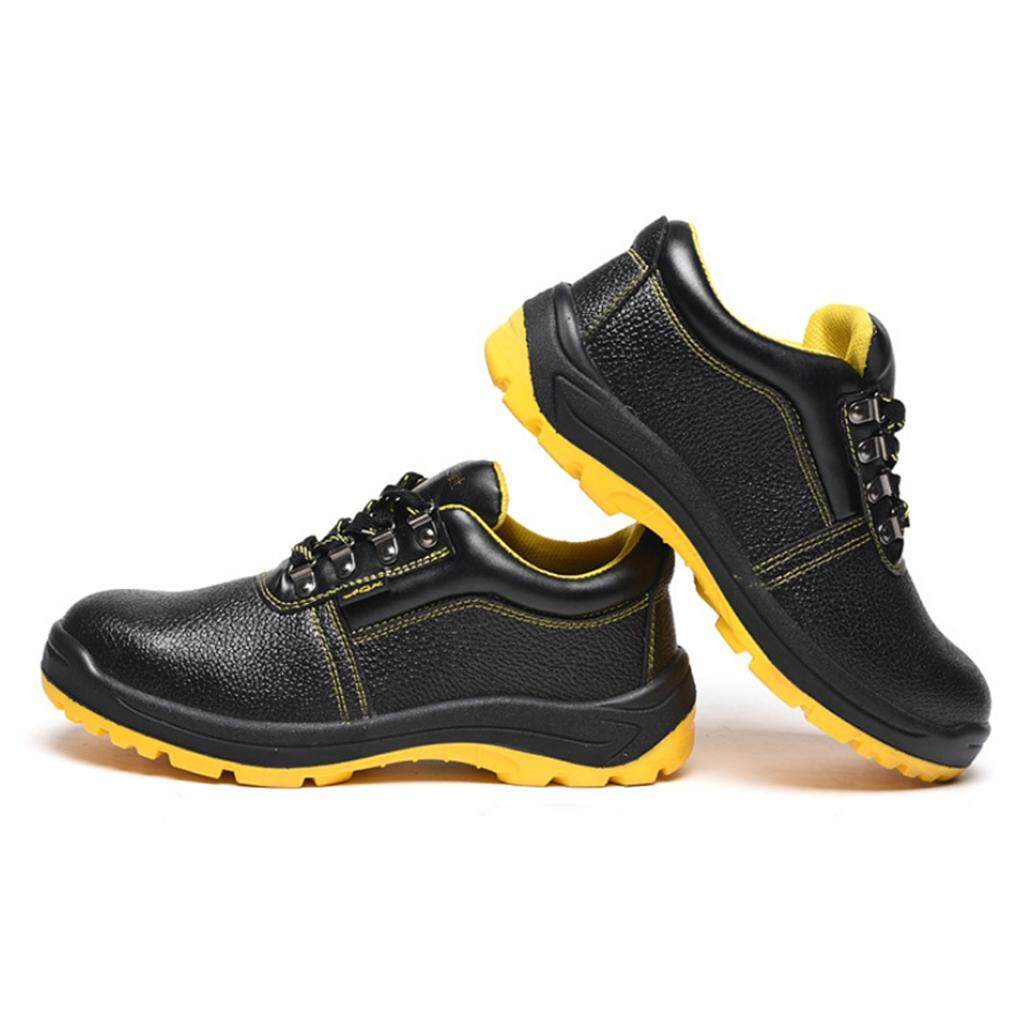 Miracle Shining Safety Work Boots Steel Toe Water Resistant Shock Absorbent Boots US 8.5