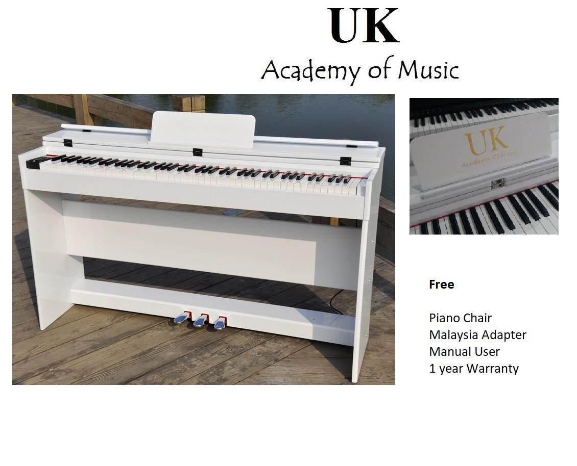 UK Digital Piano 88 Keys Hammer Action+Piano Stool+Manual User+Malaysia  Adapter