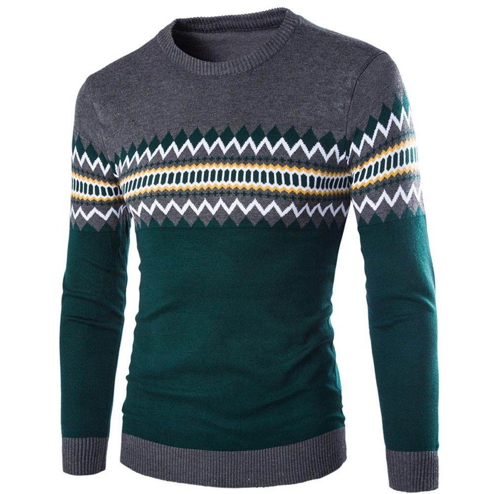 Aiipstore Winter Mens Long Sleeve Casual Sweater Warm Knitting Pullover By Aiipstore.