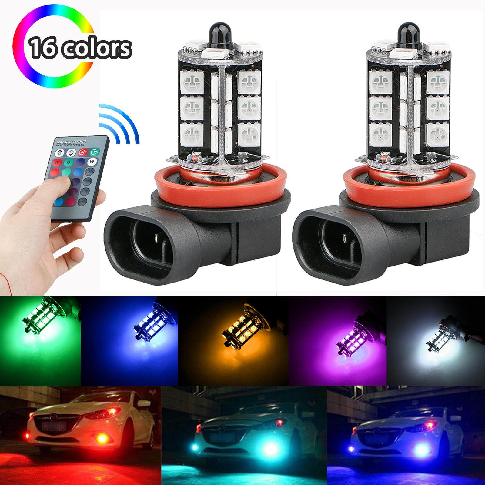 Automotive Accessories 5 Buy At Best Light Laser Led Gt Circuits Traffic Lights For Games With 2pcs 12v 27smd 5050 Multi Color Rgb Fog Driving Bulbs Remote H8