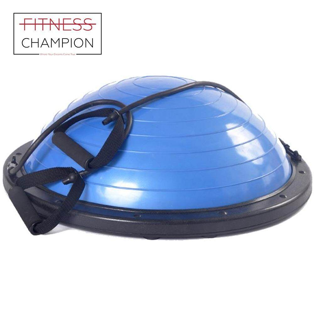Fitness Champio : Balance Training Exercise Fitness Bosu- Ball With Pull Strings Set By Fitness Champion.