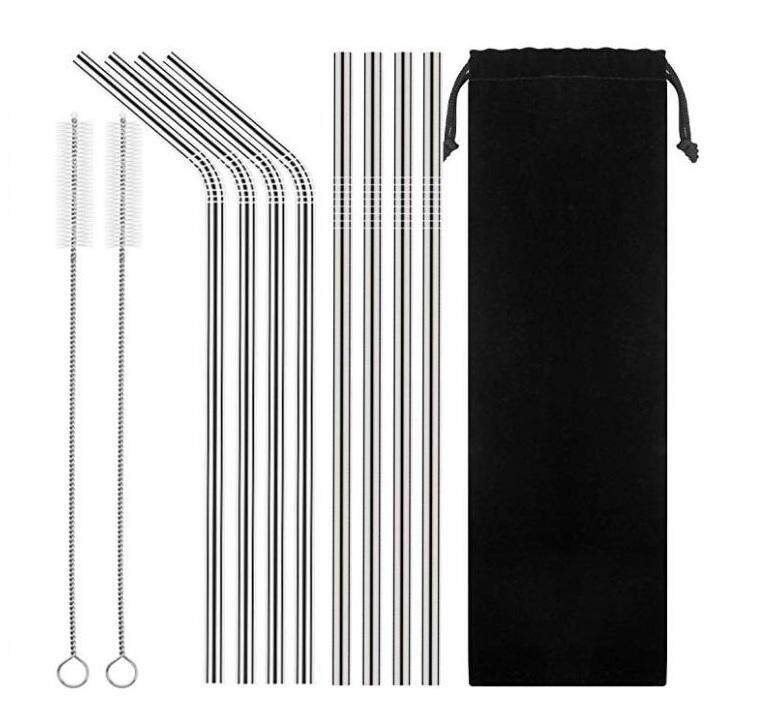 【10pcs Set】304 Stainless Steel Straw Group Ice Blaster Cup Stainless Steel Straw Metal Drinking Straw Tea Straw Reusable Straw 10 Into Group Bag Set Straw By Laz Diy.
