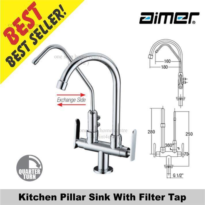 Aimer AMFC 3660F Kitchen Pillar Sink With Filter Tap