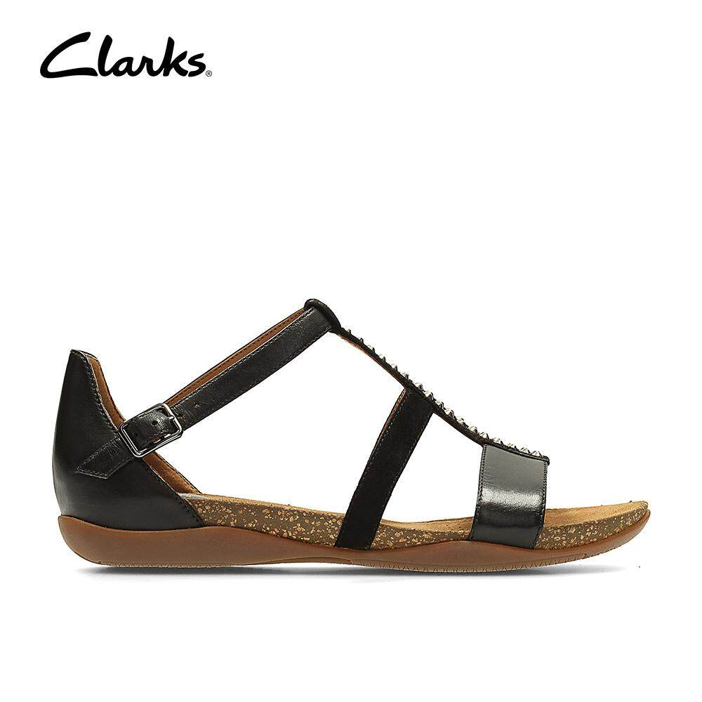 ab7ff05fc43d Clarks WoMens Autumn Fresh Sandals Cushion Plus Casual Leather SyntheticSandals  Classic Durable Lightweight Fashion