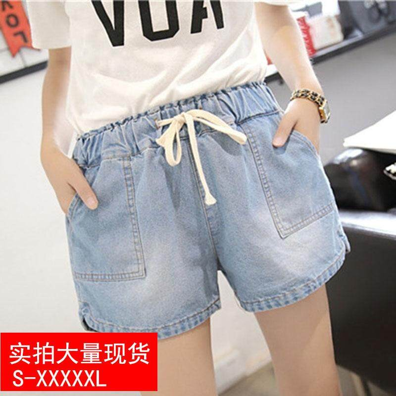 2f4962bade0f 2018 Versatile Plus-sized Women s Denim Shorts Fat Mm Plus-sized Wide-Leg