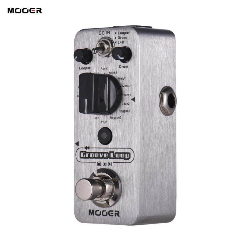 MOOER Groove Loop Drum Machine & Looper Pedal 3 Modes Max. 20min Recording Time Tap Tempo True Bypass Full Metal Shell Malaysia
