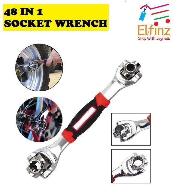 48 In 1 Multipurpose Bolt Wrench 360 Degree Rotation Spanner Universal Wrench By Elfinzshop.
