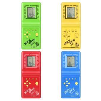 Tawaran Panas Yika Kids Electronic Tetris Brick Game Handheld Machine LCD Educational Toys Promosi