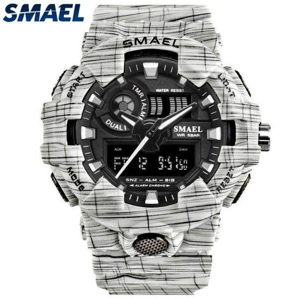 SMAEL Mens Watches Top Brand Luxury Analog Quartz Digital Watch Men Waterproof LED Military Sport Wristwatch Malaysia