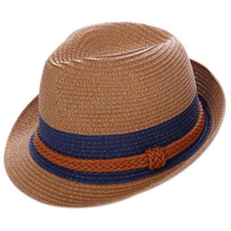Womens Summer Cowboy Hat Cap Straw Hat Fashion Sun Beach hat, Coffee