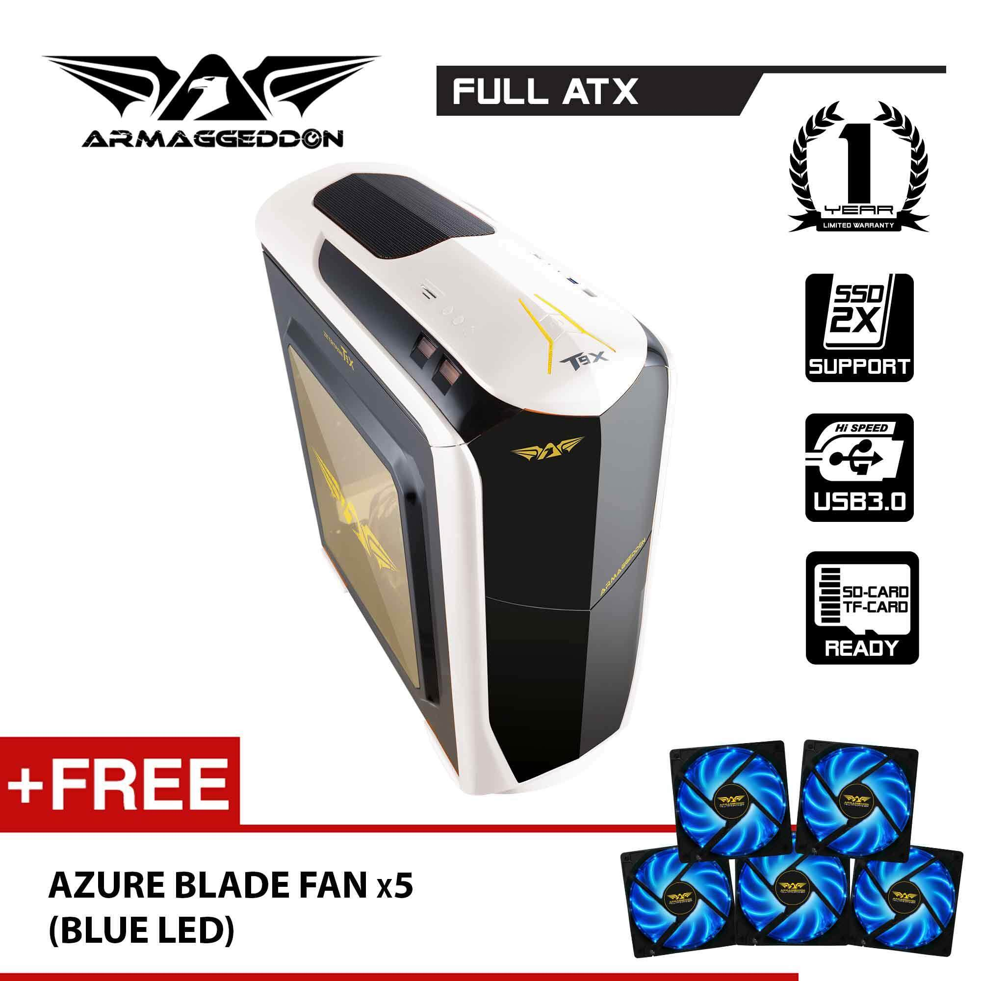 Armaggeddon Zetatron T9X Full ATX Gaming PC Case Free Fan (x5) Malaysia