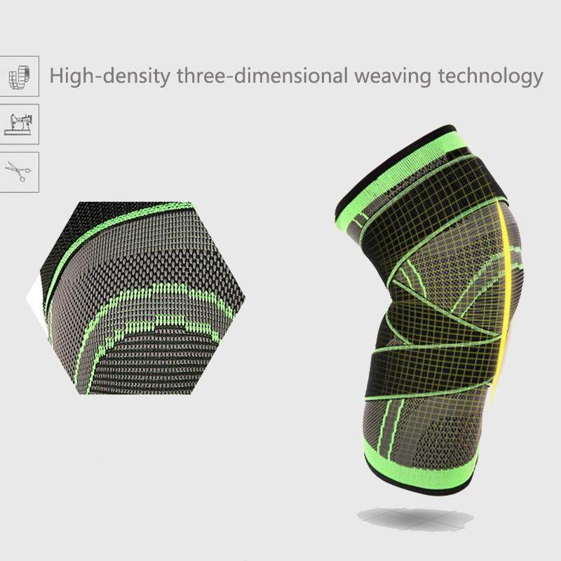 5830a072dc 3d Weaving Pressurization Knee Brace Hiking Cycling Knee Support Protector Knee  Pad M By Happyang.
