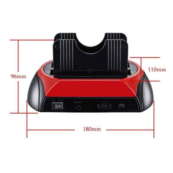 Dual 2.5 3.5 IDE SATA USB 2.0 HDD Hard Drive Disk Dock Docking Station Base -