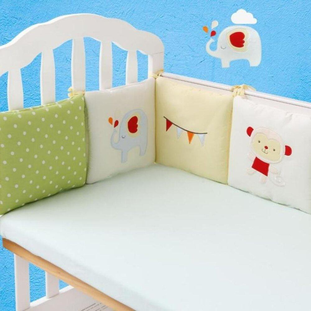 6pcs Popular Crib Bumper Protective Baby Nursery Bedding Comfy Infant Cot Padmonkey By Moonbeam.