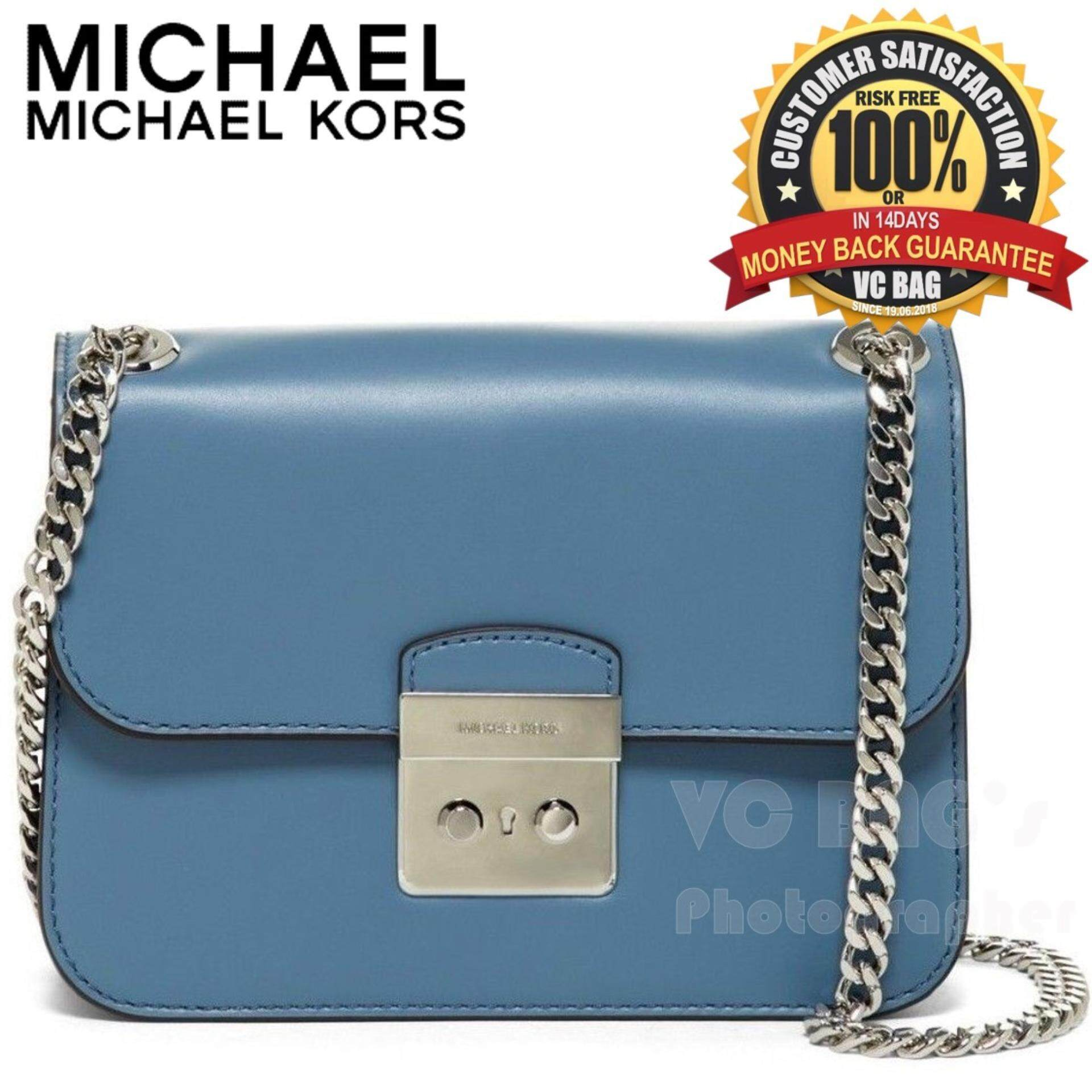 b976f117009d MICHAEL KORS Sloan Editor Small Chain Shoulder Bag  Denim