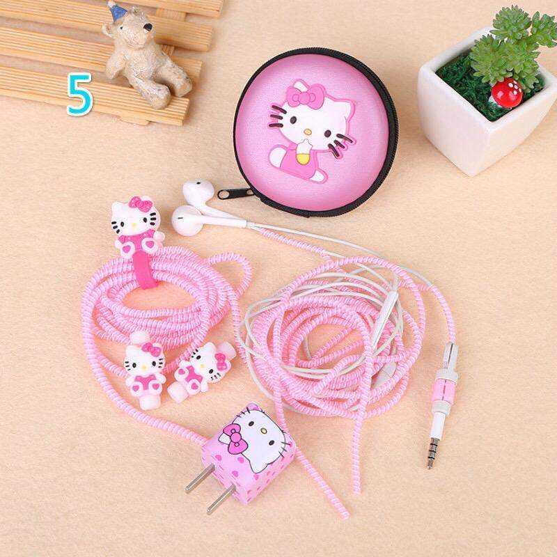 6 In 1 Captain America Kitty Cable Charge Earphone Protector Storage Box Set Diy By Miyi.