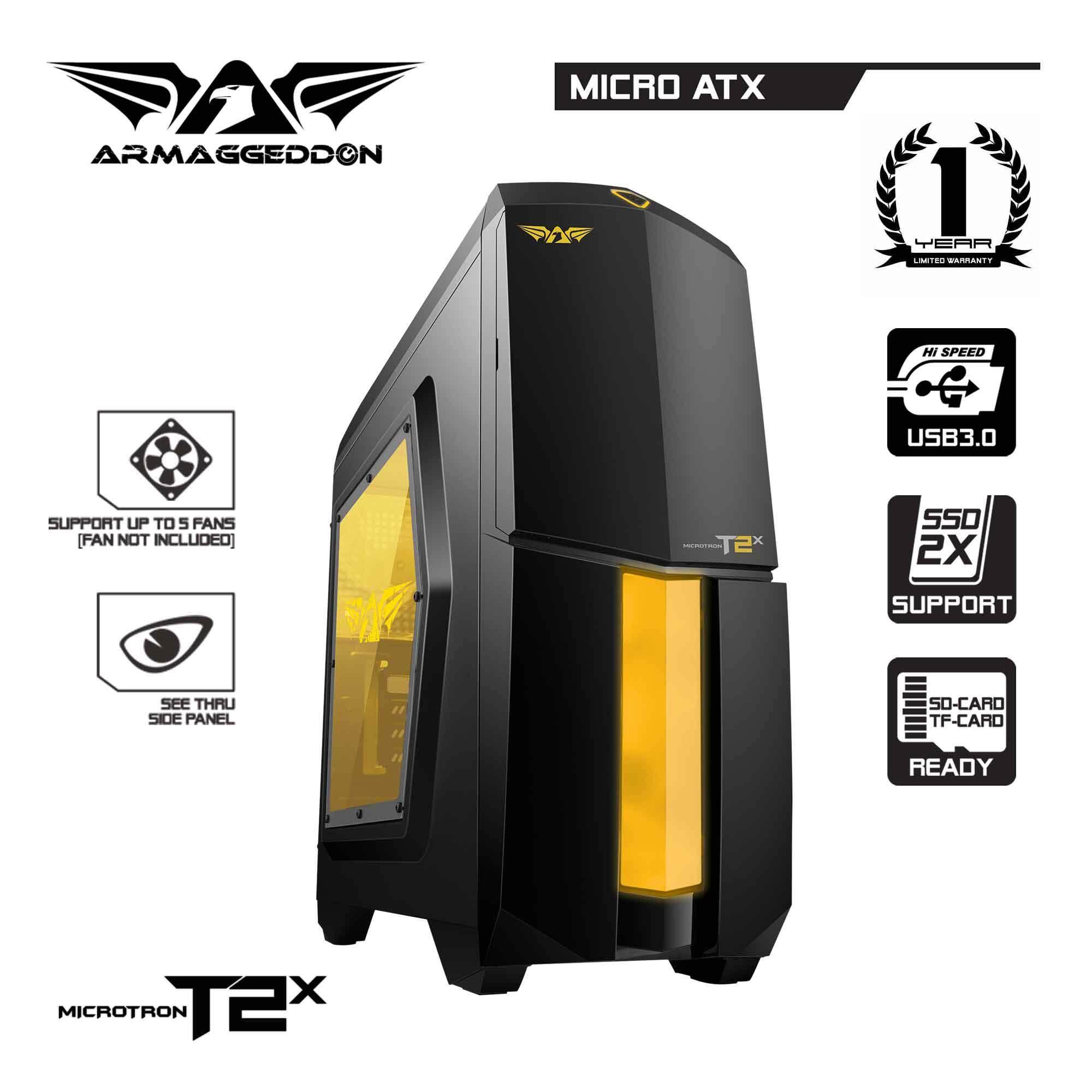 (CLEARANCE) Armaggeddon Microtron T2x Micro ATX Gaming PC Chassis - Support SSD and High End Graphic Card Malaysia